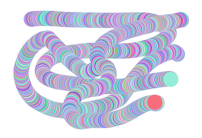 【ブラシスタジオ】カラーオプションの設定でストローク内で描画色を変化させる